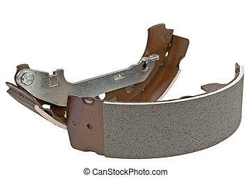 brake shoe kit - new set of brake shoe on the rear axle to ...