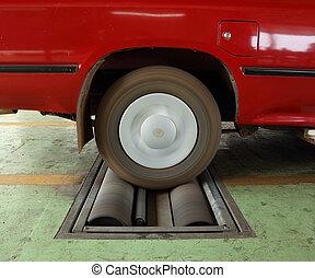 brake testing system of car - brake testing system of the...