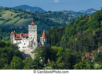 The medieval Castle of Bran. The castle was mentioned first time in 19th november 1377, by Louis I of Hungary, and guarded in the past the border between Transylvania an Wallachia. It is also known for the myth of Dracula.