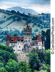 The medieval Castle of Bran guarded in the past the border between Wallachia and Transylvania. It is also known for the myth of Dracula.