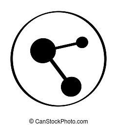 branca, ícone, rede, fundo, isolado