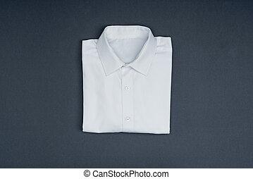 branca, algodão, camisa