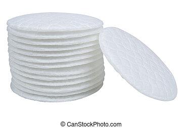 branca, algodão, isolado, cotonetes