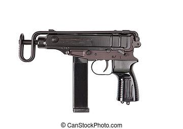 branca, arma, fundo, isolado