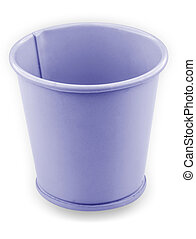 branca, balde, isolado, fundo, metálico