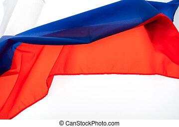 branca, bandeiras, rússia, fundo
