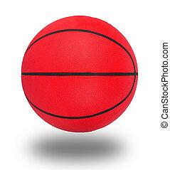 branca, basquetebol, isolado