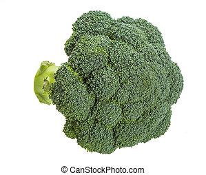 branca, brócolos, isolado