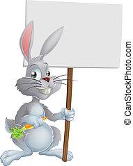 branca, bunny easter, coelho, sinal