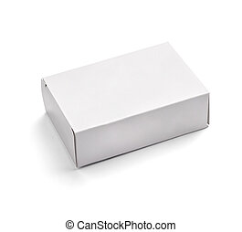 branca, caixa, em branco, recipiente