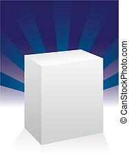branca, caixa, para, desenho