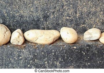 branca, -, chão pedra