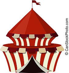 branca, circo, fundo, ilustração