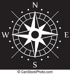 branca, compasso, símbolo