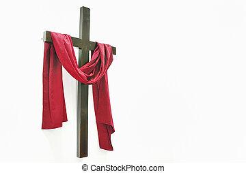 branca, crucifixos, fundo
