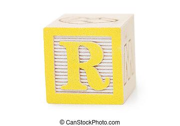 branca, cubos, letras, isolado