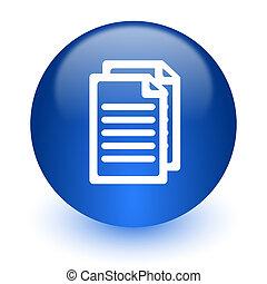 branca, documento computador, fundo, ícone