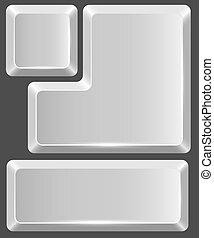branca, em branco, botão, teclado