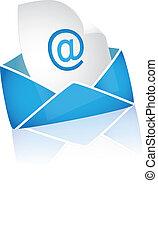 branca, email, fundo