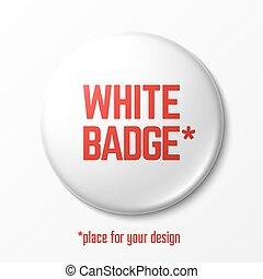 branca, emblema, em branco