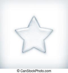 branca, estrela, vetorial