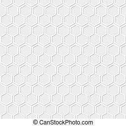 branca, favo mel, padrão, ligado, experiência cinza