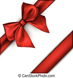 branca, feriado, fundo, bow., vermelho