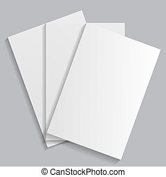 branca, folhas papel, ligado, um, experiência cinza