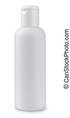 branca, garrafa, plástico