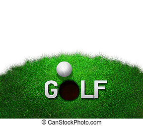 branca, golfe, fundo