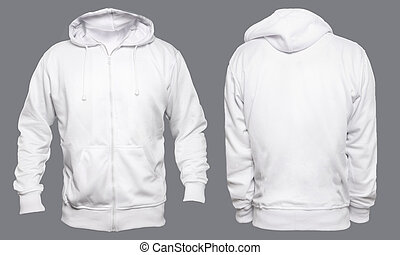 branca, hoodie, escarneça, cima