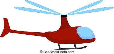 branca, ilustração, vermelho, vetorial, helicóptero, experiência.