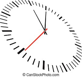 branca, isolado, fundo, relógio