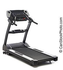 branca, isolado, fundo, treadmill