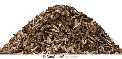 branca, isolado, woodpile
