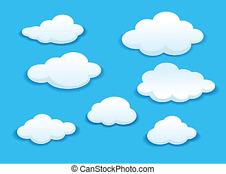 branca, jogo, nuvens