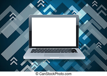 branca, laptop, vazio