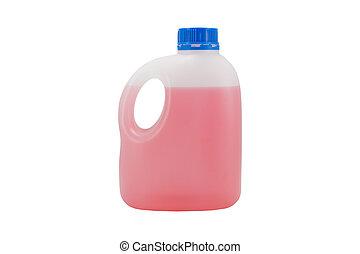 branca, lata, isolado, líquido, vermelho