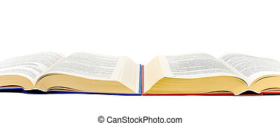 branca, livro, abertos, fundo