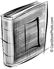 branca, livro, isolado