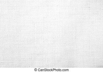 branca, lona, textura, ou, fundo