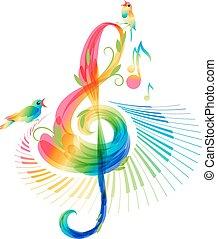 branca, música, fundo