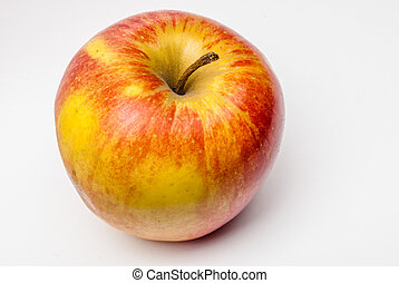 branca, maçã, isolado
