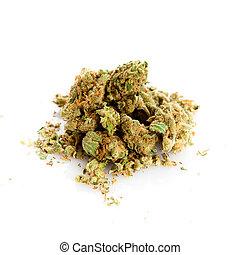 branca, marihuana, fundo