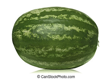 branca, melancia, isolado
