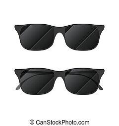 branca, modernos, óculos de sol, lustroso