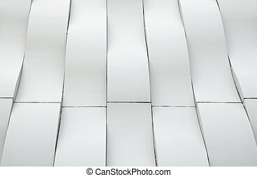 branca, modernos, curva, arquitetura
