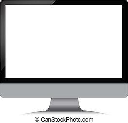 branca, modernos, pretas, monitor