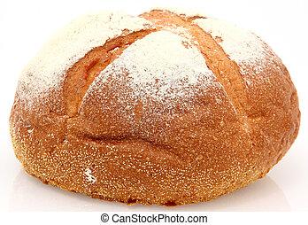 branca, montanha, pão