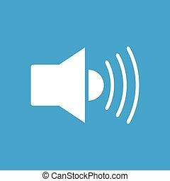 branca, orador, ícone